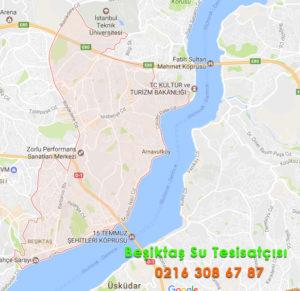 Beşiktaş Su Tesisatçısı Harita