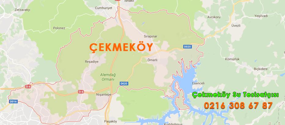 Çekmeköy Su Tesisatçısı Harita